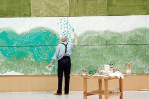 David Hockney pintando
